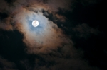 Cloud over a full moon