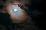 Cloud over a full moon