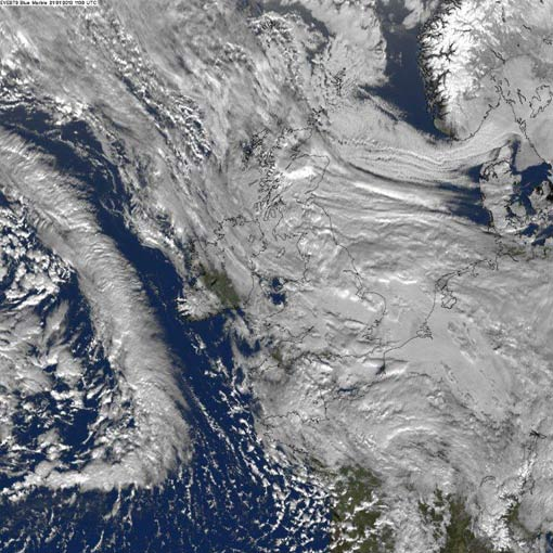 cloud cover over uk