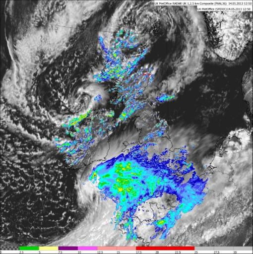 satellite and rain 14 May 2013