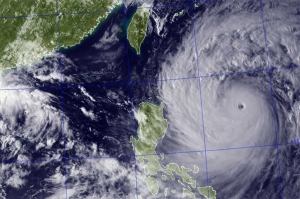Satellite image of Typhoon Usagi Source Naval Research Laboratory.