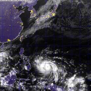 Typhoon Haiyan approaching the Philippines 6 November 2013