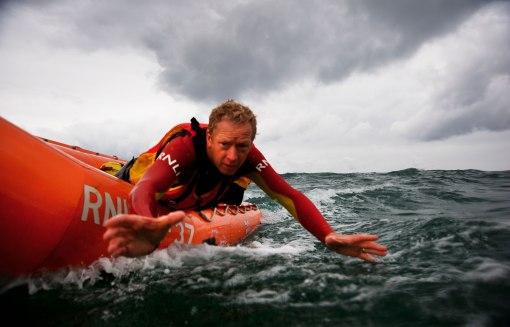 RNLI lifeguard rescue. Copyright Nigel Millar