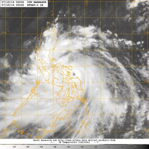 Satellite image of Rammasun from 7am (UK time) this morning. Courtesy of the Naval Research Laboratory.