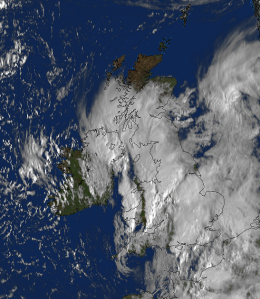 ex-hurricane Bertha crosses the UK on 10 August 2014