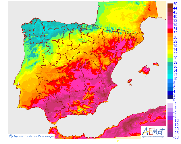 Map Of Spain Lanzarote.Record May Temperatures For Spain Official Blog Of The Met Office