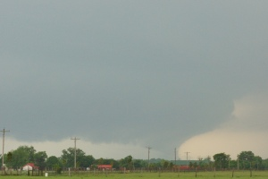 The tornado that passed close to the hotel on 6 May