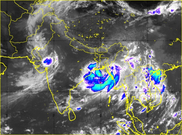 Satellite image of monsoons over Pakistan, Bay of Bengal, and South China
