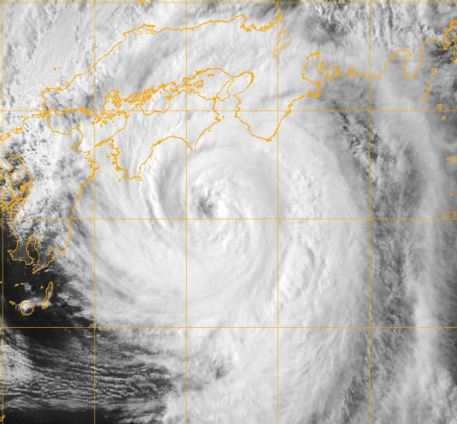 Typhoon Nangka on 16 July 2015. Image courtesy of The US Naval Research Laboratory.