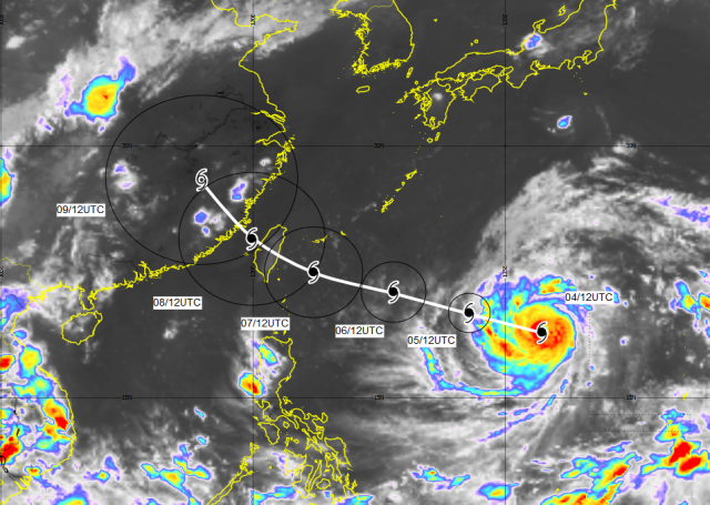 Picture courtesy of Japanese Meteorological Agency