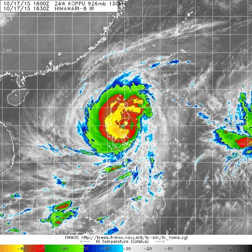 Satellite image courtesy of the Joint Typhoon Warning Center.