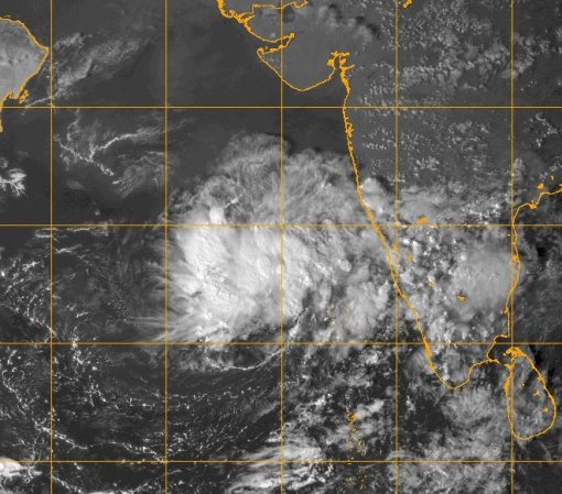 Image of Arabian Sea at 1130 UTC on 03 November 2015 Image courtesy of US Naval Research Laboratory