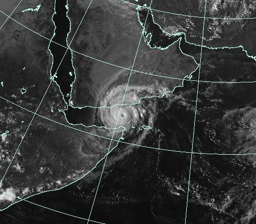 Cyclone Chapala at 1230 UTC on 02 November 2015