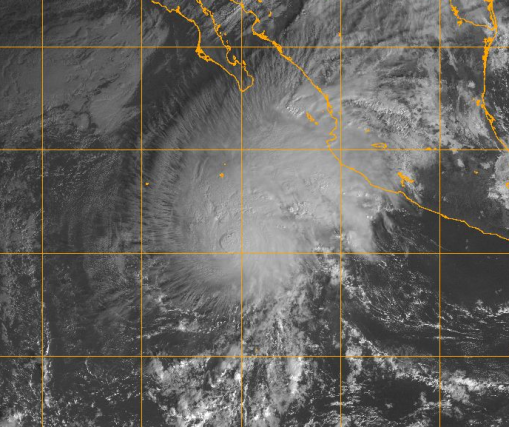 Hurricane Sandra at 1445 UTC on 26 November 2015 Image courtesy of US Naval Research Laboratory