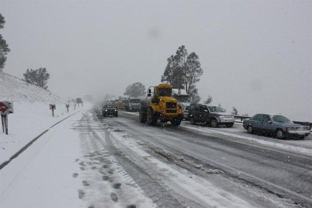 Snow fall at Van Reenen. Image courtesy of Ladysmith Gazette.