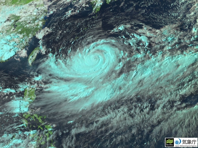 Typhoon Lionrock to the south of Japan at 0800 UTC 26 August 2016. Image courtesy of JMA
