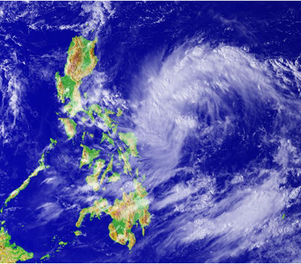 Tropical Depression east of the Philippines on 13 October 2016 (credit: National Institute for Informatics)