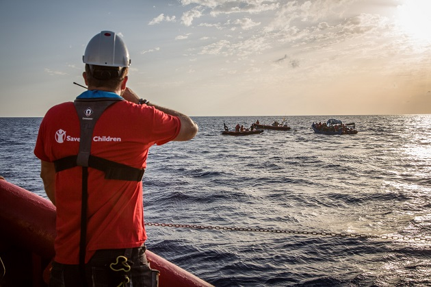 Save the Children ready to conduct rescue operation in the Mediterranean Sea. Picture courtesy of Save the Children.
