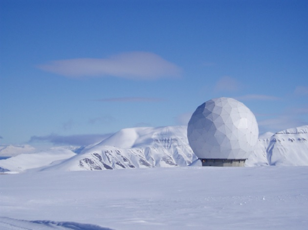 Svalbard satellite receiving station in Norway.