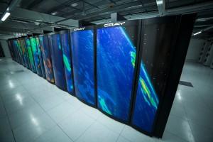 Part of the Met Office supercomputer