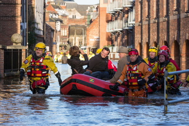 York residents evacuated by boat during 2015 flooding event